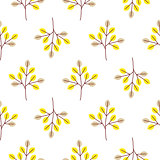 Cool trees simple forest seamless vector pattern.