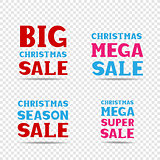 Christmas sale message set