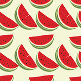 Seamless pattern of watermelons