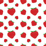 Seamless pattern of strawberry fruit