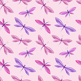 Seamless pattern of dragonfly
