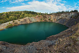Blue lake in Altai