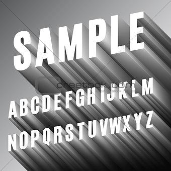 3D Font Alphabet