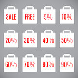 White Sale Shopping Bags