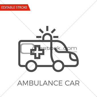 Ambulance Car Vector Icon