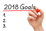 Blank Goals List Year 2018