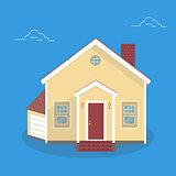 House flat icon. flat style