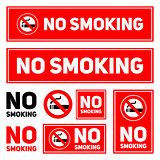 No Smoking labels set on a white background isolated vector illustration eps10