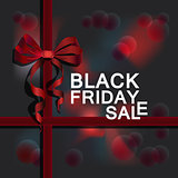 Black Friday advert on dark grey background.