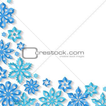 Corner snowflake background.