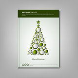Christmas brochures book or flyer with abstract design tree