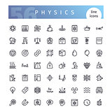 Physics Line Icons Set