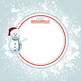 Christmas border copy space and snowman