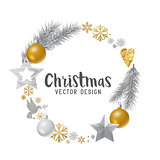 Silver and gold decorated Christmas Wreath