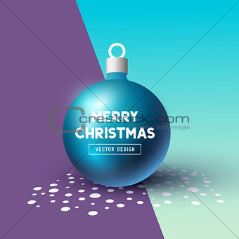 Abstract Christmas Bauble 3D effect