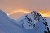 winter landscape in Retezat Mountains, Romania