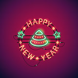 Happy New Year Colorful Neon Sign