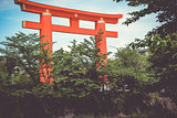 Heian Shrine torii gate, Kyoto, Japan