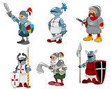 Set of six knights