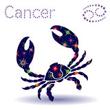 Zodiac sign Cancer stencil