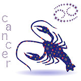 Stencil of Zodiac sign Cancer