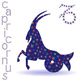 Stencil of Zodiac sign Capricornus