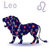 Zodiac sign Leo stencil