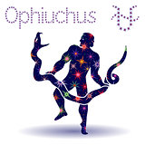 Alternative Zodiac sign Ophiuchus stencil