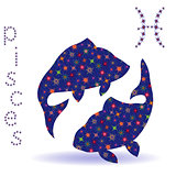 Stencil of Zodiac sign Pisces