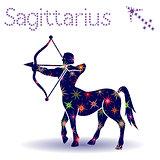 Zodiac sign Sagittarius stencil