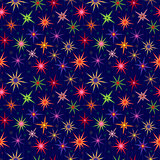 Seamless starry pattern