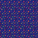Bright seamless starry pattern