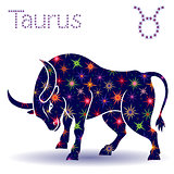 Zodiac sign Taurus stencil