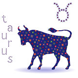 Stencil of Zodiac sign Taurus