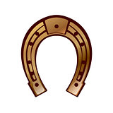 lucky - horseshoe design