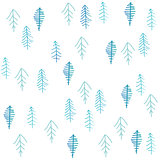 Seamless pattern with Christmas tree
