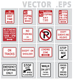 Traffic sign road. Vector graphic.