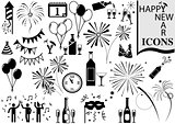Happy New Year Icon Collection