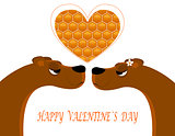 Greeting card for Valentine s Day. vector