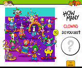 how many clowns educational game