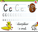 how to write letter C worksheet for kids