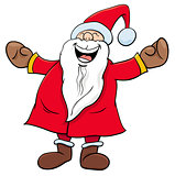 happy Santa Claus Christmas character