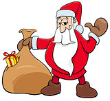 Santa Claus Christmas character with sack