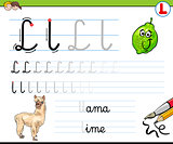how to write letter L worksheet for kids