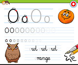 how to write letter O worksheet for kids
