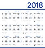Minimalist vector 2018 calendar