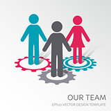 Vector our company team icon