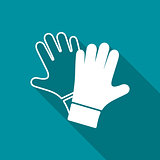 Vector protective gloves pair icon