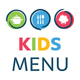 Creative kids menu design template