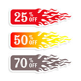 Hot sale banners 50 percent off tag